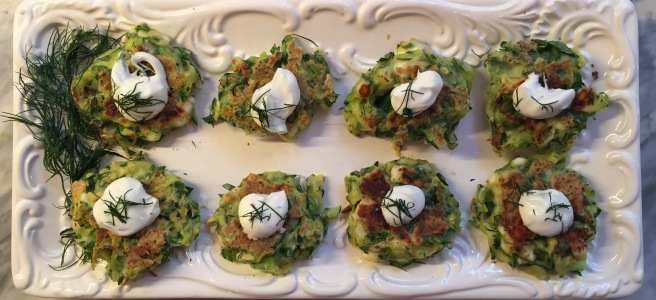 Zucchini Fritters make a great appetizer or side dish.