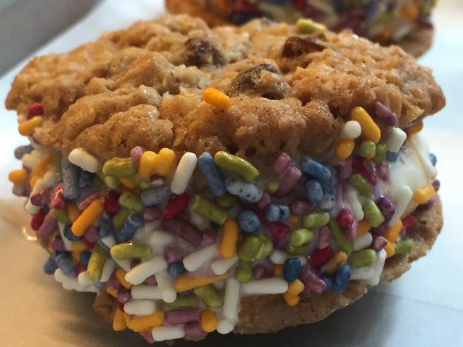 Oatmeal Raisin Ice Cream 'Wich with Rainbow Sprinkles