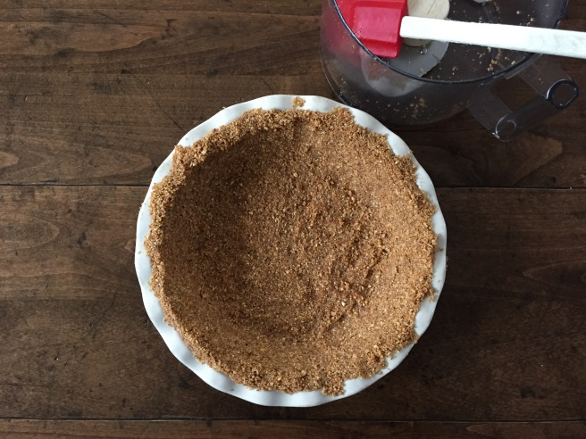 Pecan and graham cracker crust