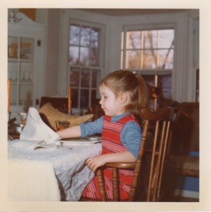 Jean at the Thanksgiving table 1972