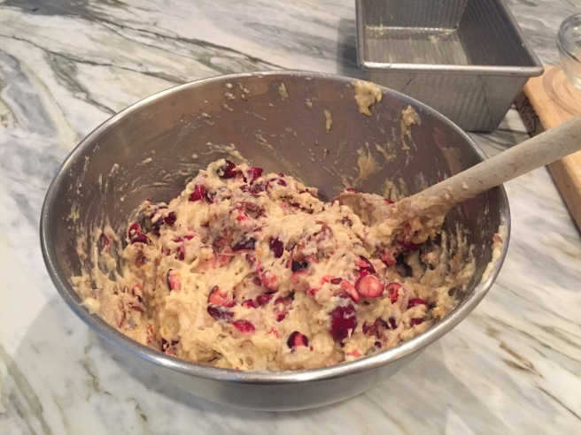 Cranberry Nut Bread Batter