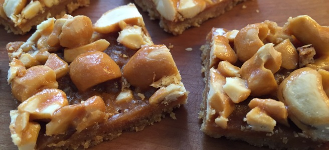 Cashew Butterscotch Bars