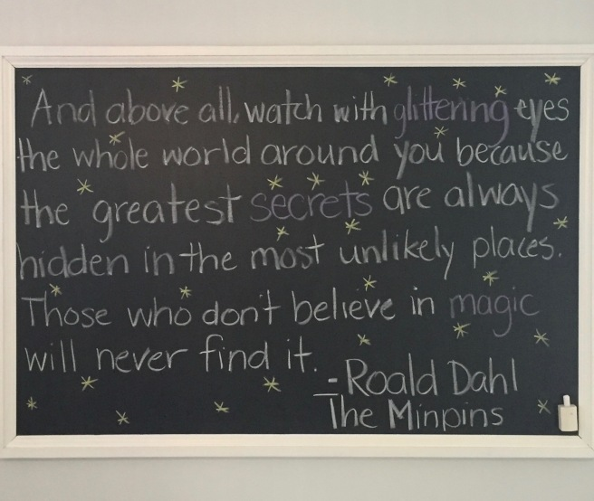 And above all quote by Roald Dahl