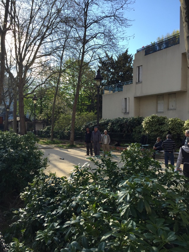 playing boules in paris