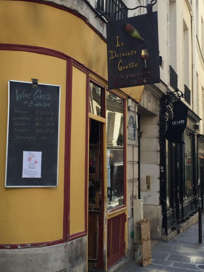 Outside La Dernière Goutte