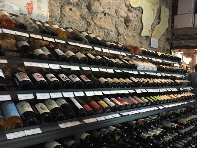 Wine tasting room at La Dernière Goutte