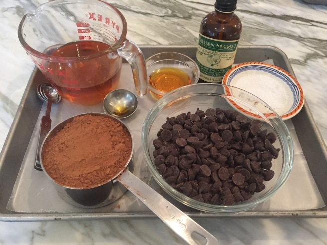 Ingredients for Bittersweet Chocolate and Honey Sorbet