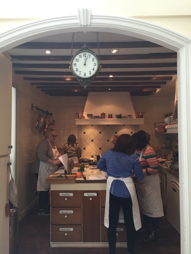 Patricia Wells cooking class in Paris